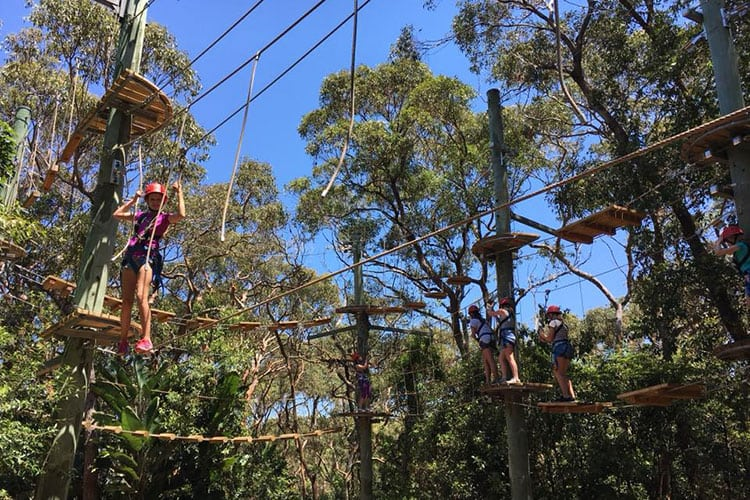 high ropes school holiday program