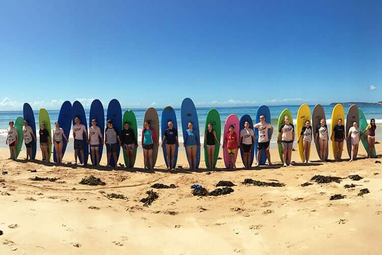 surfing lessons for teenagers manly