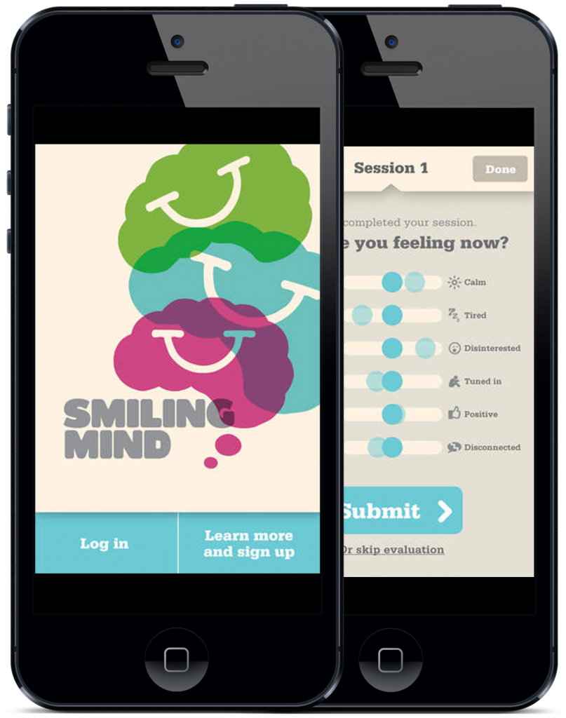 Smiling Mind App for mindfulness for children