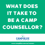 What does it take to be a camp counsellor at camp blue?
